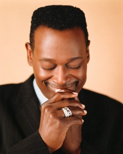ca. 2001 --- Luther Vandross Looking Down --- Image by © Kwaku Alston/CORBIS OUTLINE