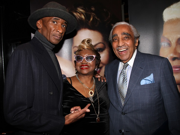 Angelo Ellerbee with Charles Rangel - 2015